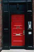 Boston:  Back Bay door--No. 223 W. Newton.  Photo '91.