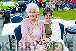 Cora and Carmel Roche from Monavalley, enjoying the fun day in John Mitchels on Sunday for the Inspired fundraiser.