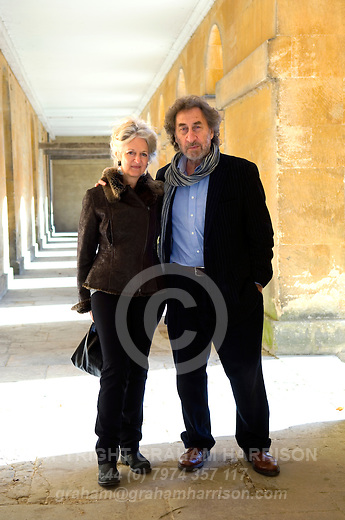 Howard Jacobson, comic novelist and winner of the 2010 Man Booker Prize for Fiction with his wife TV Producer Jenny de Yong, at Blenheim Palace during the Woodstock Literary Festival, Woodstock, Oxfordshire, UK. 17 September 2010. Photograph copyright Graham Harrison.