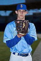 Burlington Royals pitcher Daniel Lynch (25) poses for a photo following the game against the Greeneville Reds at Burlington Athletic Stadium on July 8, 2018 in Burlington, North Carolina. The Royals defeated the Reds 4-2.  (Brian Westerholt/Four Seam Images)