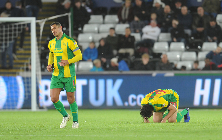 West Bromwich Albion's Ahmed Hegazi celebrates scoring his side's second goal <br /> <br /> Photographer Kevin Barnes/CameraSport<br /> <br /> The EFL Sky Bet Championship - Swansea City v West Bromwich Albion - Wednesday 28th November 2018 - Liberty Stadium - Swansea<br /> <br /> World Copyright &copy; 2018 CameraSport. All rights reserved. 43 Linden Ave. Countesthorpe. Leicester. England. LE8 5PG - Tel: +44 (0) 116 277 4147 - admin@camerasport.com - www.camerasport.com