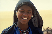 Portrait of a young Touareg girl