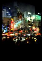 Reflected New York skyline near Times Square...New York City, New York.  Street Photography from Manhattan and Brooklyn.  Subway, Union Square, Metro Stations, New York City Skyline, Michael Rubenstein, Matt Nager, Jacob Pritchard.