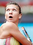 Simona Halep, Roumania, during Madrid Open Tennis 2016 match.May, 5, 2016.(ALTERPHOTOS/Acero)