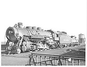 D&amp;RGW #1224 with water tank to far right in background.<br /> D&amp;RGW    ca 1952
