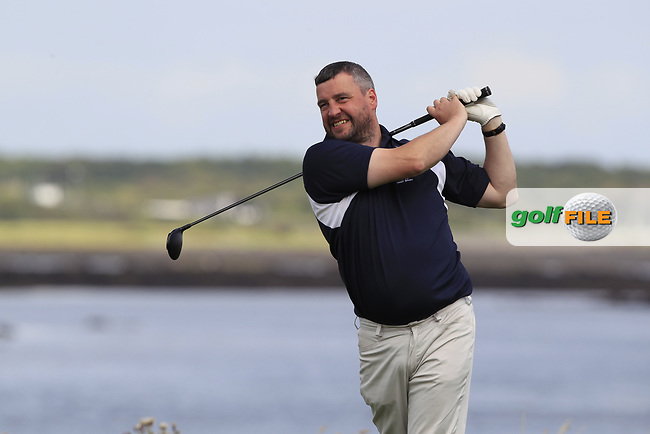 Mick Kilcourse (Castlebar) during the final of the AIG Jimmy Bruen Shield Connacht Final, in Galway Bay Golf Club, Galway, Ireland. 12/08/2017<br /> Picture: Fran Caffrey / Golffile