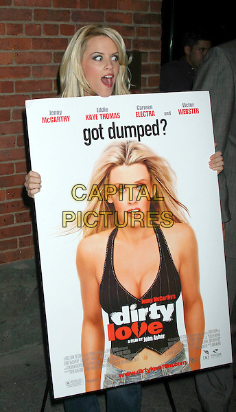 "JENNY McCARTHY.In celebration of the new movie ""Got Dumped"" at Cain in New York City..September 21st, 2005 .half length poster mouth open .www.capitalpictures.com.sales@capitalpictures.com.©Capital Pictures"