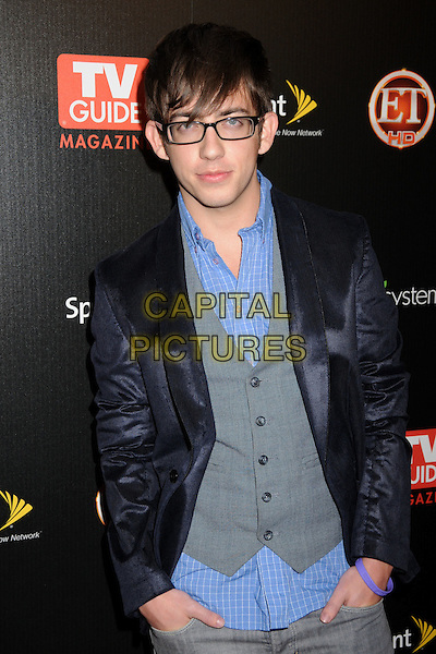 KEVIN HALE .TV Guide Magazine's Hot List Party 2009 held at the SLS Hotel, Los Angeles, California, USA, .10th November 2009..half length glasses blue jacket grey gray shirt waistcoat .CAP/ADM/BP.©Byron Purvis/Admedia/Capital Pictures
