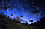 A reflection of the Maroon Bells near Aspen, CO. © Michael Brands, 2008