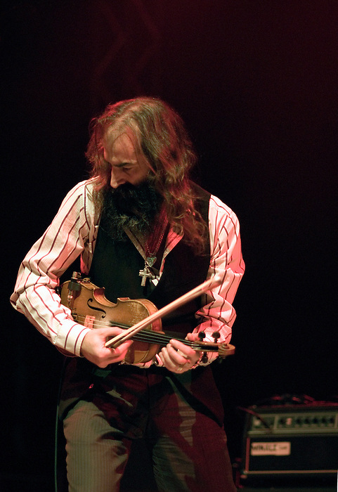 Dirty Three [Warren Ellis pictured] performing live at Ten Years of All Tomorrow's Parties at Butlins in Minehead. 12 December 2009.