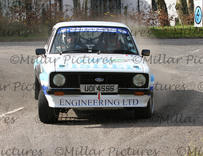 \c156/at Junction 13 on Special Stage 11 Bulls Brook on the Discover Northern Ireland Circuit of Ireland Rally which was a constituent round of  the FIA European Rally Championship, the FIA Junior European Rally Championship, the Clonakilty Irish Tarmac Rally Championship, and the MSA ANICC Northern Ireland Stage Rally Championships which took place on 18.4.14 and 19.4.14 and was based in Belfast.