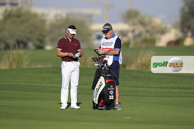 Lee Slattery (ENG) on the 18th hole during Wednesday's Round 1 of the Commercial Bank Qatar Masters 2013 at Doha Golf Club, Doha, Qatar 23rd January 2013 .Photo Eoin Clarke/www.golffile.ie