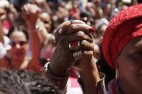 SALVADOR, BA, 04.12.2014 - SANTA BÁRBARA-BA - Católicos e adeptos do candomblé reverenciam Santa Barbara – Iansã no sincretismo.  A festa acontece no Largo do Pelourinho em Salvador (BA).  (Foto: Joá Souza / Brazil Photo Press).