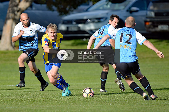 NELSON, NEW ZEALAND - JUNE 10: Sprig & Fern Tahuna 2nd v Golden Bay, Nelson College, June 10, 2017, Nelson, New Zealand. (Photo by: Barry Whitnall Shuttersport Limited)