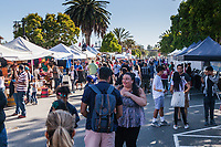 Throngs of happy visitors - vendors of coffee, hats, handcrafted art and cherries, cherries and cherries.