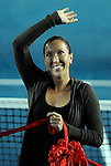 HONG KONG - JANUARY 07:  Jelena Jankovic of Serbia waves to the crowd during the opening ceremony on day one of the World Team Challenge 2009 tournament held at Victoria Park January 7, 2009 in Hong Kong, China. Photo by Victor Fraile / The Power of Sport Images