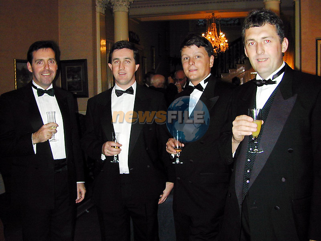 Bill Jackson, Anthony Doyle, Duncan Graham and Gerry Leydon at the Drogheda Chamber of Commerce Ball in the Boyne Valley Hotel.Pic Fran Caffrey / Newsfile