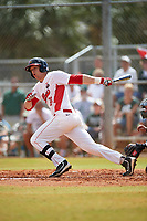 Illinois State Redbirds first baseman Brian Rodemoyer (30) at bat during a game against the Michigan State Spartans on March 8, 2016 at North Charlotte Regional Park in Port Charlotte, Florida.  Michigan State defeated Illinois State 15-0.  (Mike Janes/Four Seam Images)