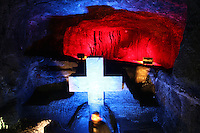 ZIPAQUIRA-COLOMBIA-29-12-2012.Catedral de sal, Zipaquirá,Colombia.Salt Cathedral in Zipaquira,Colombia.Photo: VizzorImage/Felipe Caicedo.