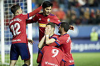 David Rodriguez (forward; CA Osasuna) during the Spanish la League soccer match between CA Osasuna and Real Oviedo at Sadar stadium, in Pamplona, Spain, on Saturday, <br /> May 12, 2018.