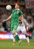 08/10/2015; UEFA Euro 2016 Group D Qualifier - Republic of Ireland v Germany, Aviva Stadium, Dublin. <br /> James McCarthy, Ireland<br /> Picture credit: Tommy Grealy/actionshots.ie.