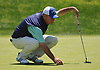 Craig Thomas gets ready to putt on the 3rd Hole of Garden City Country Club during the Polo / Ralph Lauren Metropolitan PGA Head Professional Championship on Wednesday, May 30, 2018.