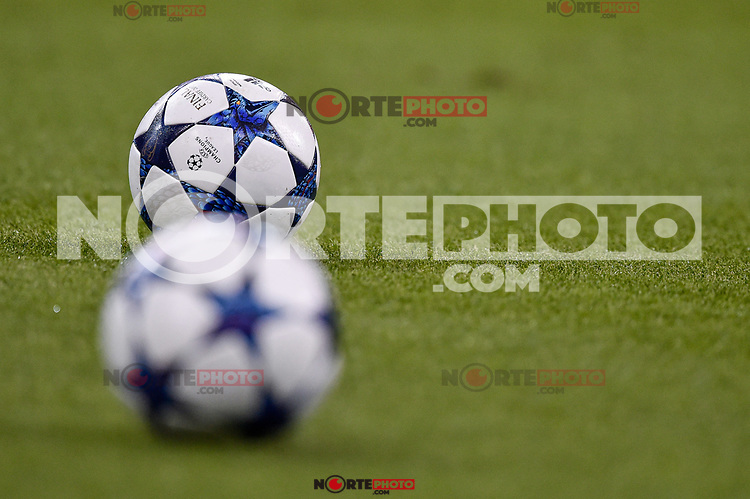 Official ball of the final during the training session ahead the UEFA Champions League Final between Real Madrid and Juventus at the National Stadium of Wales, Cardiff, Wales on 2 June 2017. Photo by Giuseppe Maffia.<br /> Giuseppe Maffia/UK Sports Pics Ltd/Alterphotos /NortePhoto.com