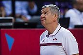 7th September 2017, Fenerbahce Arena, Istanbul, Turkey; FIBA Eurobasket Group D; Latvia versus Turkey; Head Coach Ainars Bagatskis of Latvia reacts
