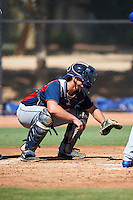 Cleveland Indians Simeon Lucas (28) during an Instructional League game against the Los Angeles Dodgers on October 10, 2016 at the Camelback Ranch Complex in Glendale, Arizona.  (Mike Janes/Four Seam Images)