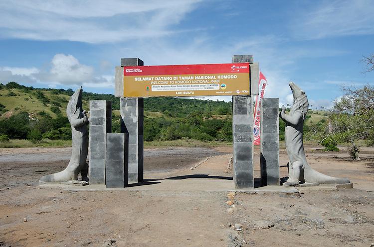 Komodo National Park entrance, Komodo