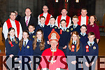 Pupils from the Loughquittane NS Killarney with Bishop Ray Browne at their Confirmation in St Mary's Cathedral on Friday