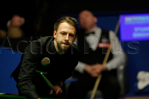 01.05.2015. Sheffield, England. Judd Trump in action against Stuart Bingham   in their semi-final at the Betfred World Snooker Championship at the Crucible Theater.