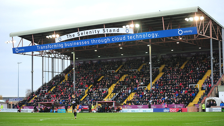 A general view of Sincil Bank, home of Lincoln City FC<br /> <br /> Photographer Andrew Vaughan/CameraSport<br /> <br /> The EFL Sky Bet League Two - Lincoln City v Mansfield Town - Saturday 24th November 2018 - Sincil Bank - Lincoln<br /> <br /> World Copyright © 2018 CameraSport. All rights reserved. 43 Linden Ave. Countesthorpe. Leicester. England. LE8 5PG - Tel: +44 (0) 116 277 4147 - admin@camerasport.com - www.camerasport.com