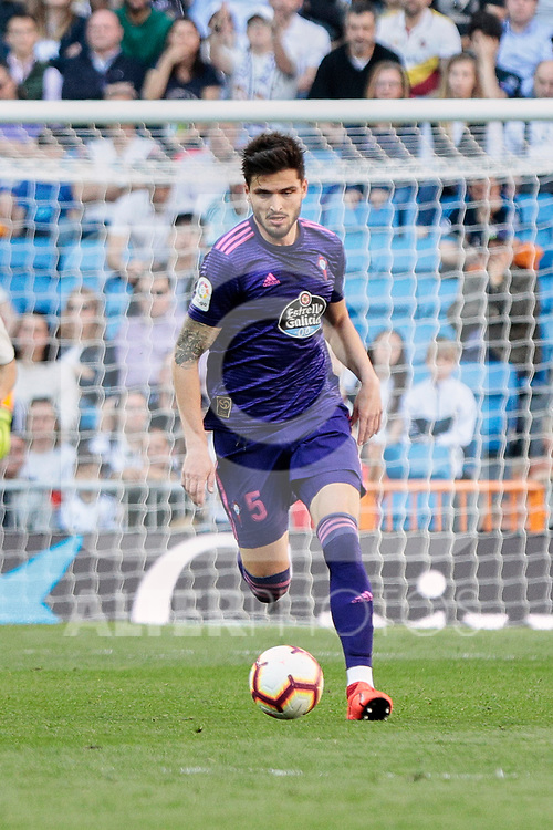 Real Club Celta de Vigo's Okay Yokuslu during La Liga match between Real Madrid and Real Club Celta de Vigo at Santiago Bernabeu Stadium in Madrid, Spain. March 16, 2019. (ALTERPHOTOS/A. Perez Meca)
