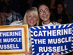 Irene McElarnan and Melissa Hughes at the White Collar Boxing at the O'Raghallaigh's. Photo:Colin Bell/pressphotos.ie