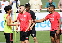 Makoto Hasebe (Eintracht Frankfurt), Ante Rebic (Eintracht Frankfurt), Simon Falette (Eintracht Frankfurt) - 08.08.2018: Eintracht Frankfurt Training, Commerzbank Arena<br /> <br /> DISCLAIMER: <br /> DFL regulations prohibit any use of photographs as image sequences and/or quasi-video.
