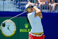 Sei Young Kim (KOR) watches her tee shot on 1 during Sunday's final round of the 2017 KPMG Women's PGA Championship, at Olympia Fields Country Club, Olympia Fields, Illinois. 7/2/2017.<br /> Picture: Golffile   Ken Murray<br /> <br /> <br /> All photo usage must carry mandatory copyright credit (&copy; Golffile   Ken Murray)