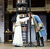 The Heresy of Love <br /> By Helen Edmundson<br /> at Shakespeare's Globe Theatre, London, Great Britain <br /> press photocall <br /> 4th August 2015 <br /> <br /> Directed by<br /> John Dove<br /> <br /> <br /> Gwyneth Keyworth<br /> Angelica<br /> <br /> Gary Shelford<br /> Don Hernando<br /> <br /> <br /> Photograph by Elliott Franks <br /> Image licensed to Elliott Franks Photography Services
