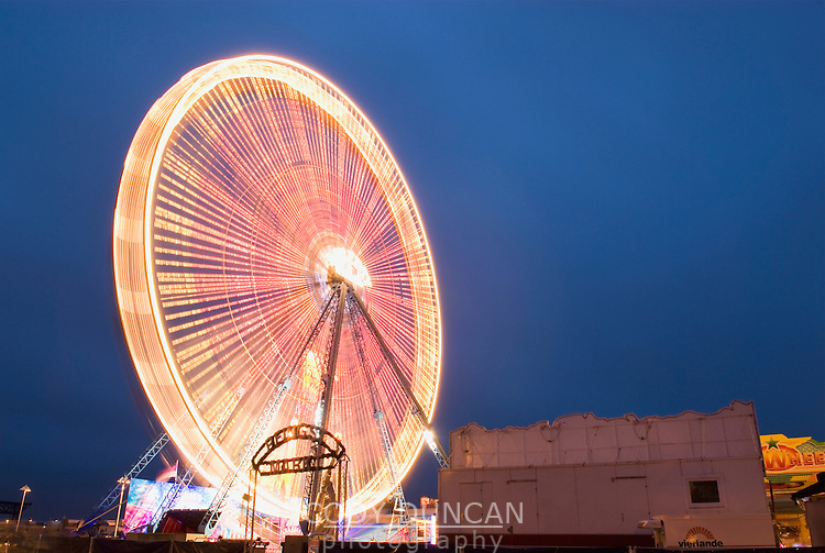 Ferris wheel, Rostock harbour, Germany