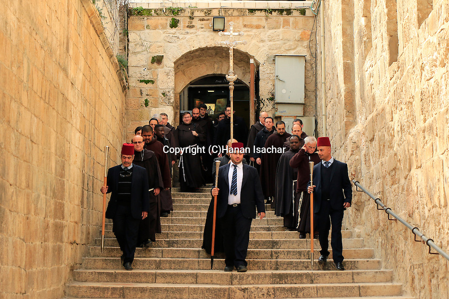 Israel, Jerusalem Old City, First Saturday of Lent at the Church of the Holy Sepulchre