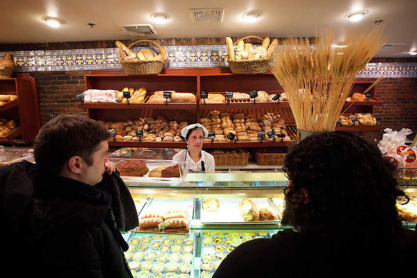 Newark, NJ - JANUARY 16, 2016: Teixiera's Bakery, which specializes with Portuguese pastries. A tour of the Portuguese shops and restaurants of Newark's Ironbound neighborhood with Chef David Santos.<br /> <br /> CREDIT: Clay Williams for Gothamist.<br /> <br /> &copy; Clay Williams / claywilliamsphoto.com