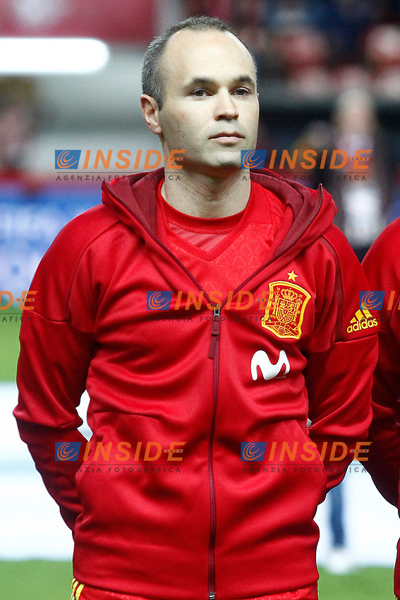 Spain's Andres Iniesta during FIFA World Cup 2018 Qualifying Round match. <br /> Gijon 24-03-2017 Stadio El Molinon <br /> Qualificazioni Mondiali <br /> Spagna - Israele <br /> Foto Acero/Alterphotos/Insidefoto <br /> ITALY ONLY
