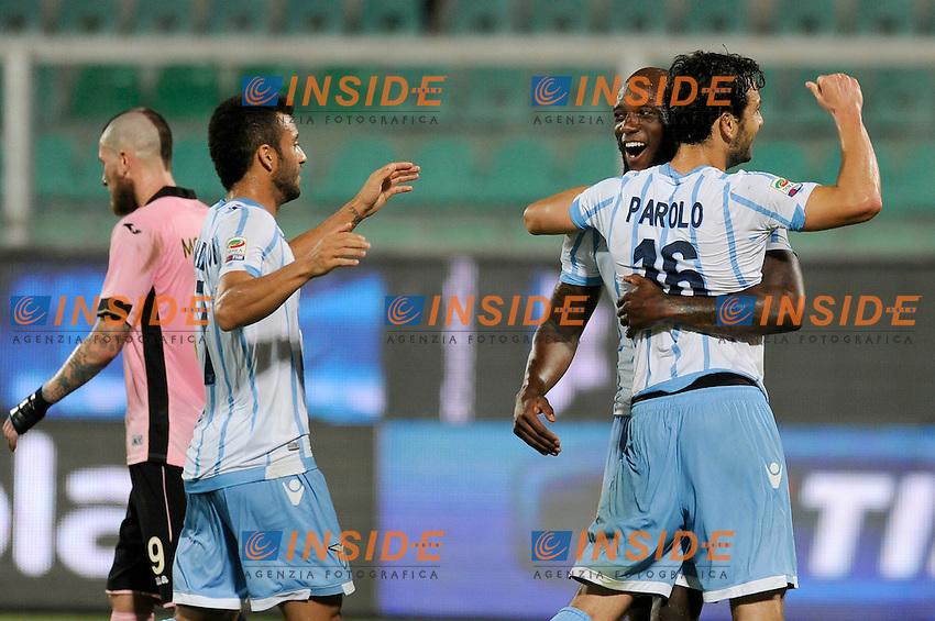 Esultanza MArco Parolo dopo  il gol. Goal celebration <br /> Palermo 29-09-2014 Stadio La Favorita, Football Calcio Serie A Palermo - Lazio. Foto Insidefoto