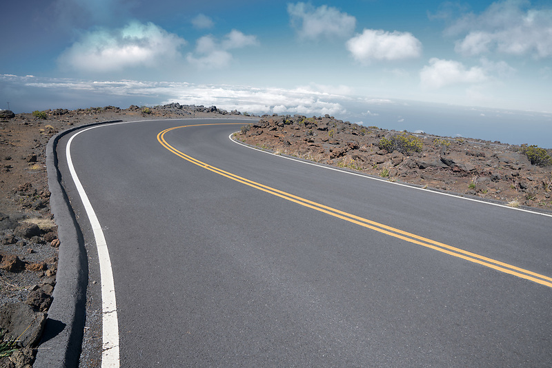 Road on Haliakala Crater. Maui, Hawaii