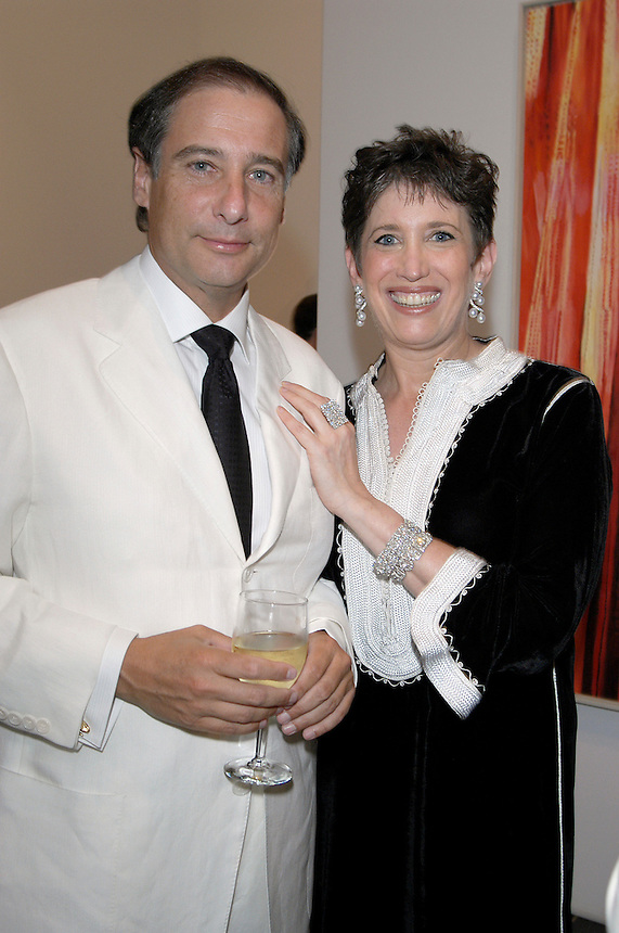 Howard Blum and Beth Rudin DeWoody at the Parish Museum Gala in Southampton, NY, 2004