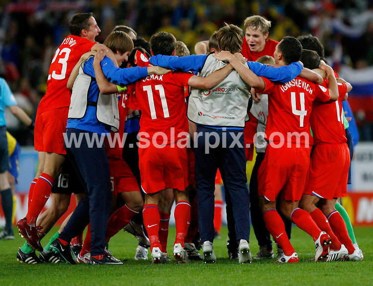 **ALL ROUND PICTURES FROM SOLARPIX.COM**.**SYNDICATION RIGHTS FOR UK AND SPAIN ONLY**.Euro 2008 European Football Championship being held in Austria/Switzerland.  Preliminary, Group D, Match 24, Russia vs Sweden, at the Tivoli-Neu Stadium, Innsbruck, Austria. 18th June 2008..This pic: Russia..JOB REF: 6689 CPR/Timm Schamberger       .DATE: 18_06_2008.**MUST CREDIT SOLARPIX.COM OR DOUBLE FEE WILL BE CHARGED* *UNDER NO CIRCUMSTANCES IS THIS IMAGE TO BE REPRODUCED FOR ANY ONLINE EDITION WITHOUT PRIOR PERMISSION*