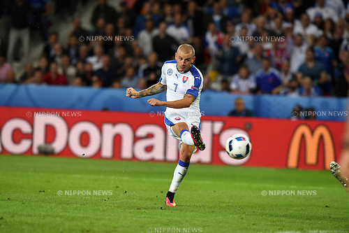 Vladimir Weiss (Slovakia) ; <br /> June 15, 2016 - Football : Uefa Euro France 2016, Group B, Russia 1-2 Slovakia at Stade Pierre Mauroy, Lille Metropole, France.; Goal 0-1 ;(Photo by aicfoto/AFLO)