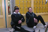 SCHAATSEN: HEERENVEEN: IJsstadion Thialf, 03-2003, VikingRace, Margot Boer, Sanne van der Star, ©foto Martin de Jong