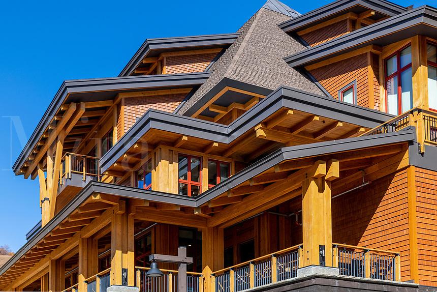 The Lodge at Spruce Peak ski resort.