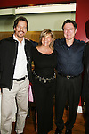 "Guiding Light's Kim Zimmer ""Reva"" join Bradley Cole ""Jeffrey"" and Frank Dicopoulos ""Frank Cooper"" at the Young Women's Breast Cancer Foundation event - Reach to Recovery - ""Spring into Shape!"" Luncheon and Fashion Show on April 6, 2008 at Embassy Suites, Coraopolis, Pennsylvania. The event also included a Chinese Auction and an autograph session with the Guiding Light actors. (Photo by Sue Coflin/Max Photos)"